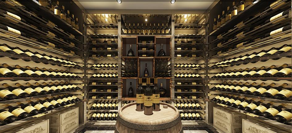 成都银泰中心现代风格酒窖