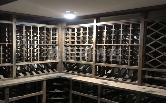 酒窖古船木实木酒架