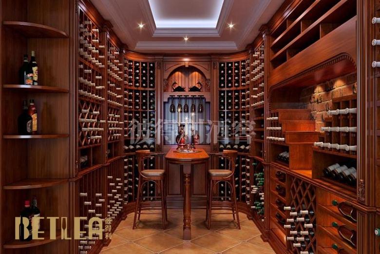 上海佘山别墅整体酒窖