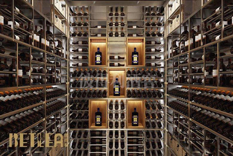 成都银泰中心现代风格整体酒窖