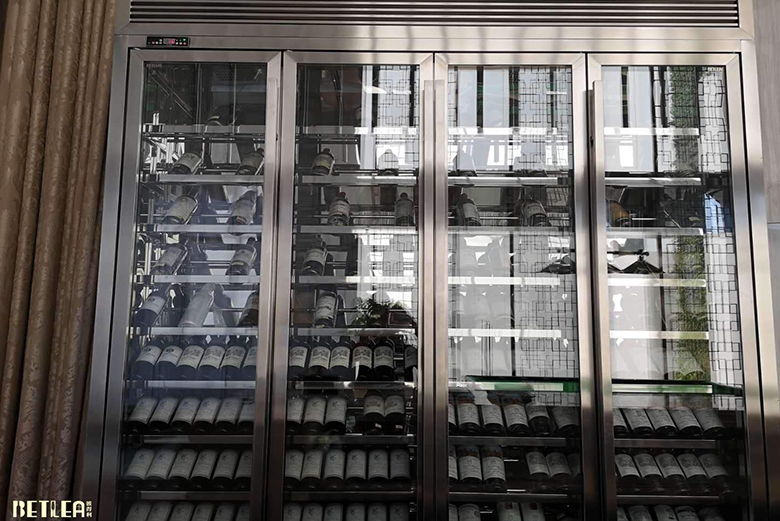 武汉私人会所不锈钢定制酒柜