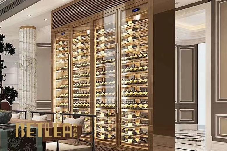 上海某地产公司不锈钢恒温酒柜