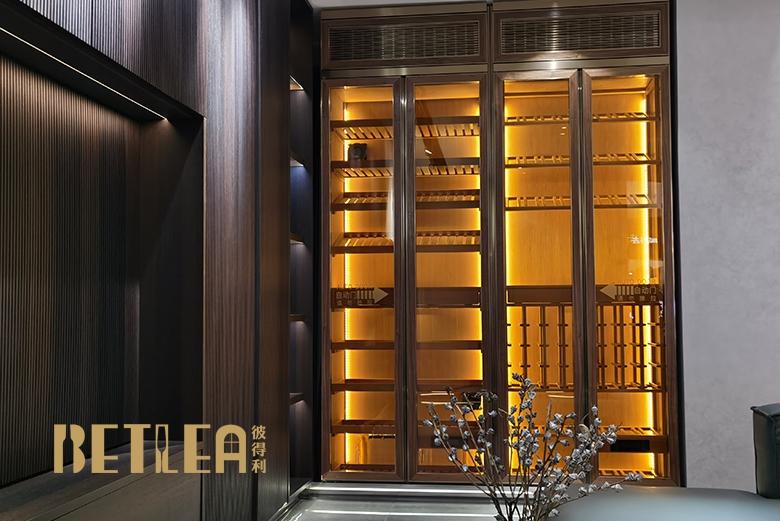 广州二沙岛定制酒柜  雪茄柜